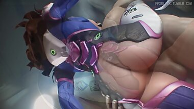 NSFW Overwatch D.Va Part 3 3D Hentai Animation Good Quality, Long