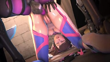 NSFW Overwatch, Widowmaker, D.Va Part 2 3D Hentai Animation Good Quality, Long