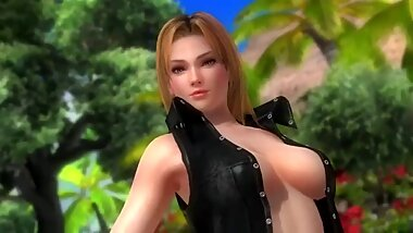 Dead or alive 5 Tina sexy & hot is showing her bubble butt on the beach !