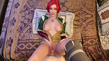 The Witcher 3 Sex Triss Rough Fucking Big Dick