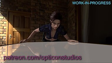 Claire Redfield FUCKED HARD 3D WIP (plz read comment) - by OpticonStudios