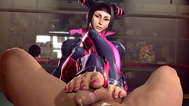 Street Fighter, Chun-Li, Juri Han 3d Animation Compilation [10 min + Full HD]