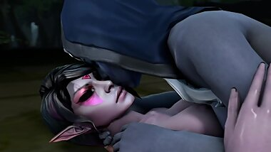 Lesbian Drow Ranger Templar Assassin Kissing - Dota 2 3d Loop